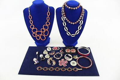 20 x Vintage & Retro CLOISSONE & ENAMEL JEWELLERY inc Necklaces, Bangles, Brooch