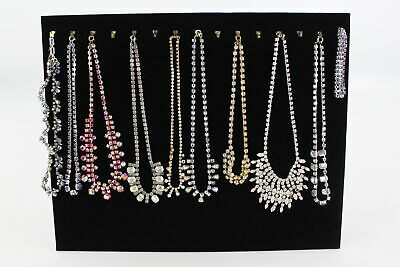 10 x True Vintage & Retro RHINESTONE NECKLACES Art Deco Style Sparkle