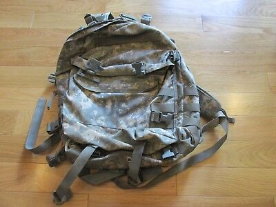 Us Army Acu Assault Pack 3 Day Molle Backpack W/Stiffener! Exc. Cond! Cool!