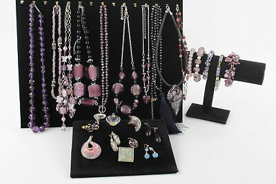 25 x Vintage Purple GLASS JEWELLERY inc. Necklaces, Pendants, Bracelets, Brooch