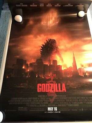 """Godzilla Movie Poster One Sheet 2014 Lot of 2 27"""" x 40""""  D/S Final 2-Sided"""