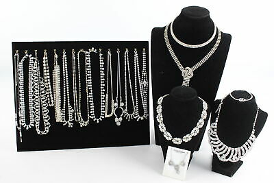 20 x Vintage & Retro RHINESTONE & CRYSTAL JEWELLERY Inc. Bracelets, Necklaces