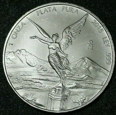 2015 Mexico Libertad 1//4 oz .999 Silver Coin ~~~ Low Mintage  ~~~