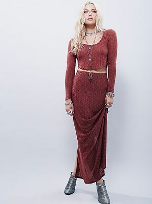 83f0e7e1d5 Free People new FP Beach full length Crop Top & Skirt Set fall leaves set sz