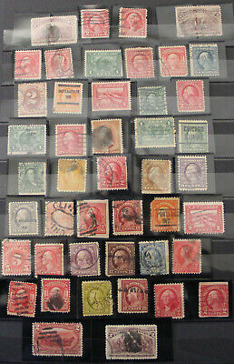 Lot of 45 US Used Postage Stamps 1890's - 1910's Shipped Loose  In Glassine Envl