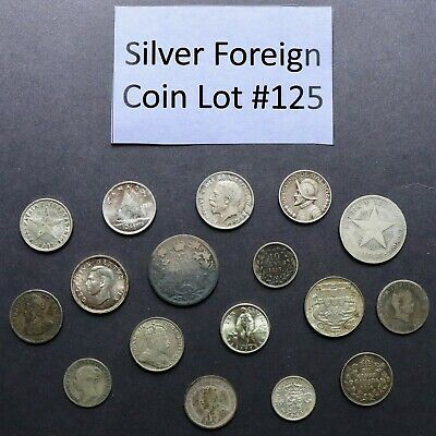 Foreign Silver Coin Lot: Collection of Old World Silver Coins #125