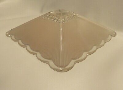 "ANTIQUE 1920s 30s LIGHT PINK THICK CEILING GLASS LIGHT FIXTURE SHADE 11 1/2"" NOS"
