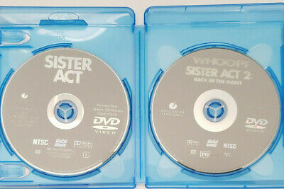 Sister Act 1 & 2 Back in the Habit DVD w/ Blu-ray Case BRAND NEW