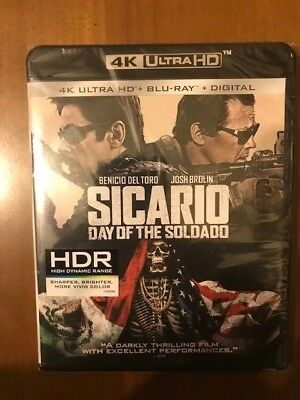 Sicario: Day of the Soldado (DVD, 2018, +Digital Copy 4K Ultra HD Blu-ray
