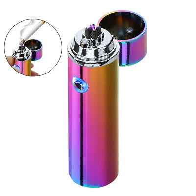 Metal USB Rechargeable Dual Arc Plasma Windproof Flameless Cigar Lighter