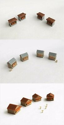 Outland Models Railway Scenery Food / Grocery Market Stand / Booth Set Z Gauge