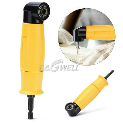 90 Degree Right Angle Extension Drill Driver Screwdriver Adapter Attachment Tool