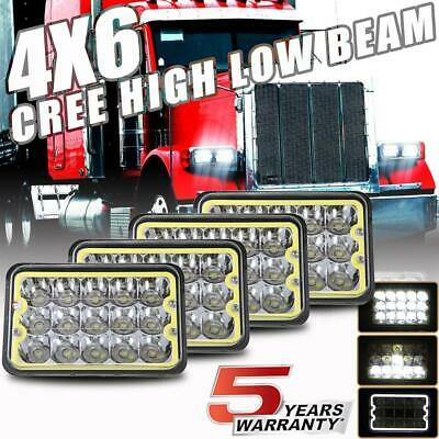 8 pc 4x6 LED headlight Hi//Lo For Freightliner Classic FLB Car Truck Western Star