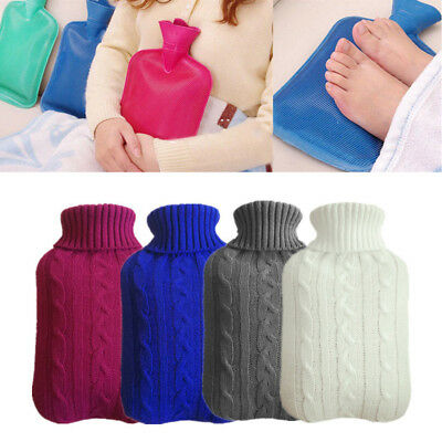 New 2L Hot Water Bottle Cover Only Warmer Heat Soft Bag Knitted Cover AU