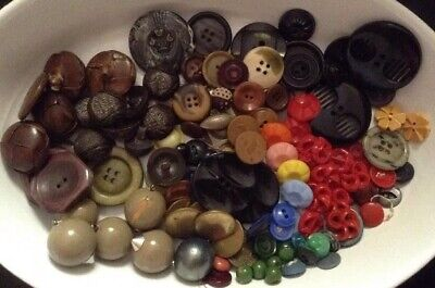 Antique Vtg Victorian Art Deco and Mixed Button Collection Lot