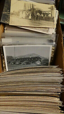 POSTCARD COLLECTION rppc 500 QTY BUILDING, town view, street view mining LOT