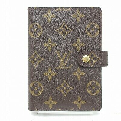 Authentic Louis Vuitton Diary Cover Agenda PM Brown Monogram 316640