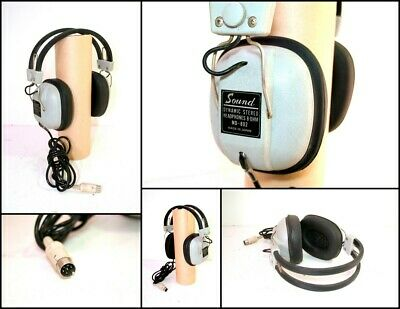 Vintage MAEDEN SOUND MD-802 Dynanmic Stereo Headphones 8 Ohms (Made in Japan)