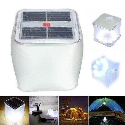 Foldable LED Solar Power Inflatable Tent Camping Lights Outdoor Emergency Lamp