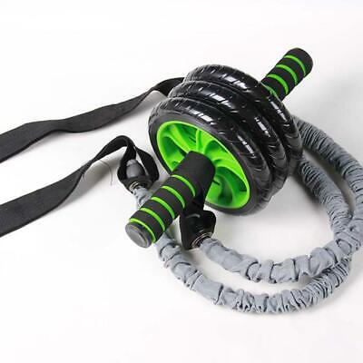 Exercise Trainer Belly Wheel Roller Elastic Resistance Ropes Fitness Gym WT88 02