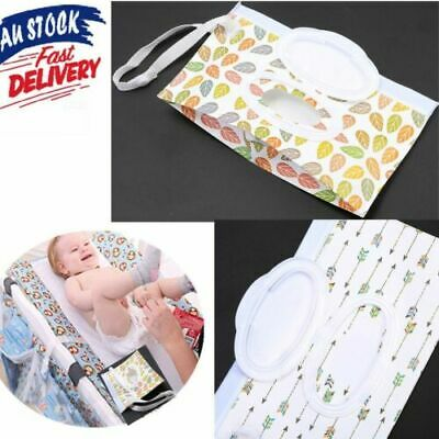 EVA Baby Wet Wipe Pouch Wipes Holder Case Reusable Refillable Wet Wipe Bag