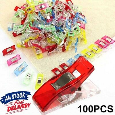 50/100Pcs Wonder Clips Crafts Fabric Quilting Crochet Craft Wonder Clips Sewing