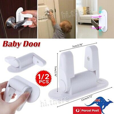 1/2Pcs Door Lever Lock Child Proof Safety Door Handle Lever Lock Self-Adhesive