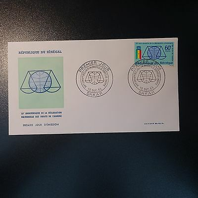 Senegal N°233 on Letter Cover 1st Day FDC