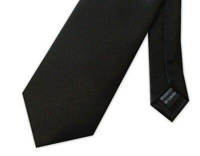 Black Poly-Satin Extra Long Funeral Tie