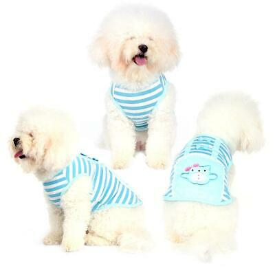 Cartoon Small Dog Clothes Pet Puppy Cute Striped Vest Dogs Cats Apparel Lovely
