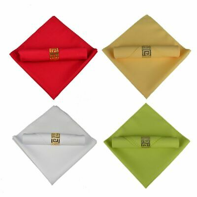 10Pcs Cotton Napkins Solid Plain Polyester For Hotel Restaurant Wedding Party