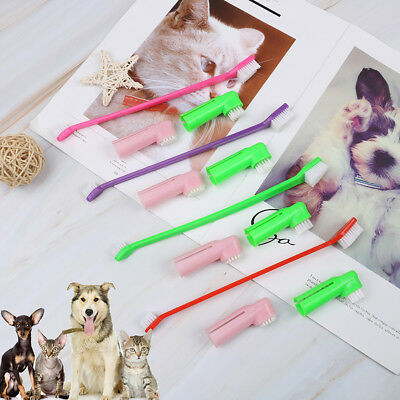 3*Portable triple head dog toothbrush dog cat toothbrush pet dog cat dental care