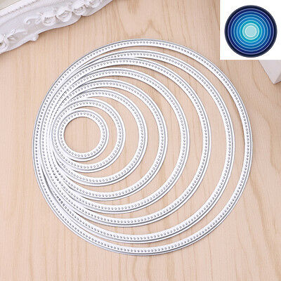 Circle Round Metal Cutting Dies Stencils DIY Scrapbooking Embossing DIY Craft