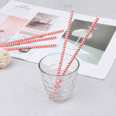 25pcs red drink paper straws striped wedding birthday party supplies decor