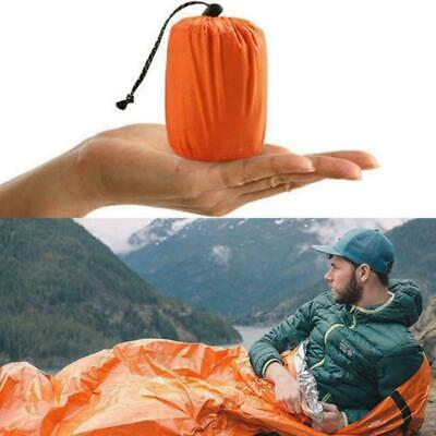 1 PC Outdoor First-Aid Survival Emergency Tent Blanket Sleep Bag Camping Sh H1T4