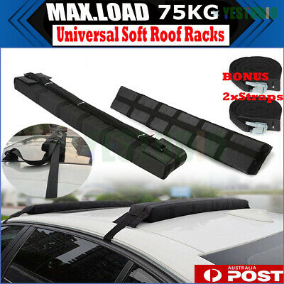2X Car Kayak Carrier Mount Holder Roof Rack Soft Racks Luggage Skiing Snow Board