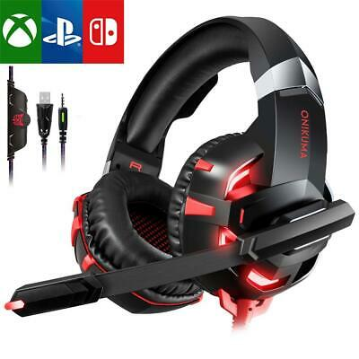 3.5mm K2A Gaming Headset MIC LED Headphones for PC Laptop PS4 Pro Xbox One S 360