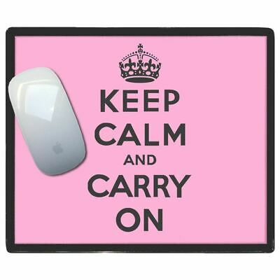 Rose Keep Calm And Carry On - Fin Washi Plastique Tapis de Souris Mat Badgebeast