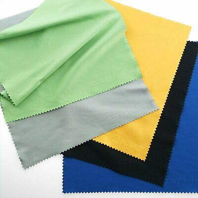 Extra Large Microfiber Cleaning Cloths - 5 Pack - 8 x 8 inch (Black, Grey, Gree