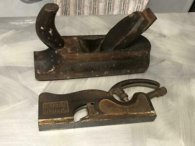 OLD VINTAGE ANTIQUE WOOD PLANING TOOL RECORD METAL No 042 TIMBER PLANE