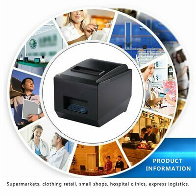 80mm Thermal Receipt Printer USB/SERIAL POS 300mm/sec Auto Cutter OZ