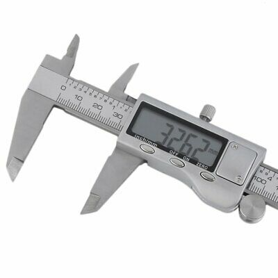 "150mm 6"" Stainless Steel Electronic Vernier Caliper Micrometer Guage LCD OZ"