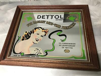 Vintage Australian Dettol Antiseptic Soap Lady Bar Mirror Medical Clinic Mancave