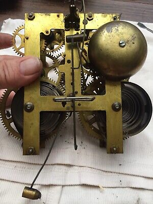 Fine Working Antique Sessions Mantle Clock Movement With Bell