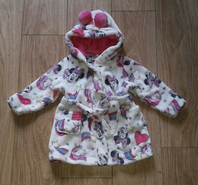 BNWOT Disney Minnie Mouse Unicorn white & pink dressing gown 12 – 18 months