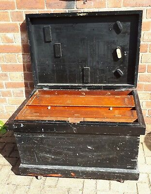 Mid 19th Century Large Well Made Joiners Fitted Tool Cabinet Trunk Chest