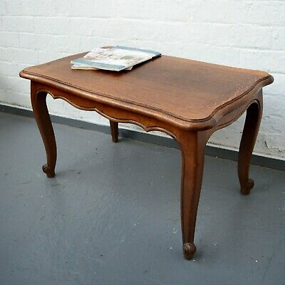 Antique Style French Louis Small oak Table / Coffee Table / Side Table