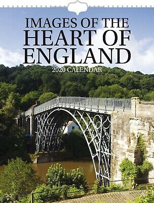 Images of The Heart of England 2020 Wall Calendar - Postal Envelope Included