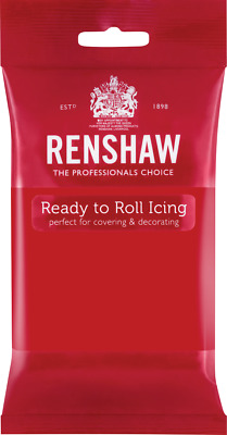 Poppy Red Renshaw Ready To Roll Icing 250g Packets