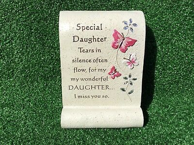 Special Daughter Butterfly Scroll Ornament, Graveside Memorial Cemetery Gift
